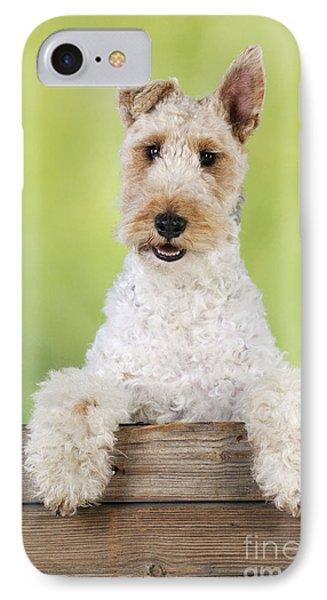 Wire Fox Terrier IPhone Case by John Daniels