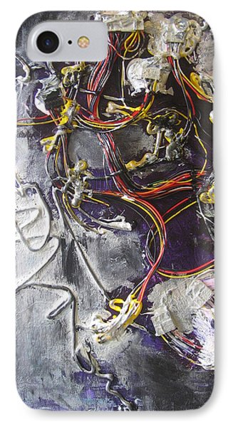 IPhone Case featuring the painting Wirefly by Lucy Matta