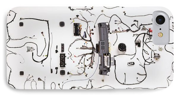 Wiring Loom Of Modern Car IPhone Case by Dorling Kindersley/uig