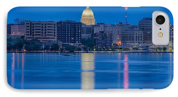 IPhone Case featuring the photograph Wisconsin Capitol Reflection by Sebastian Musial
