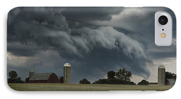 Wisconsin Farm IPhone Case by Jack Zulli