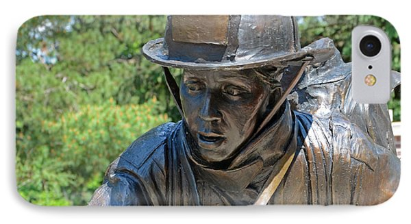 IPhone Case featuring the photograph Wisconsin State Firefighters Memorial 3  by Susan  McMenamin