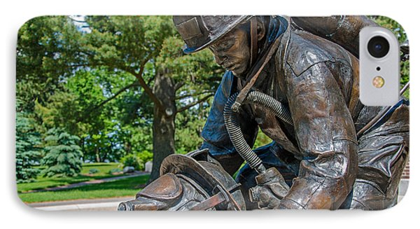 IPhone Case featuring the photograph Wisconsin State Firefighters Memorial 4 by Susan  McMenamin