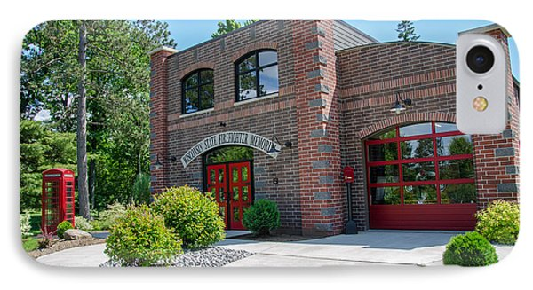 IPhone Case featuring the photograph Wisconsin State Firefighters Memorial 6 by Susan  McMenamin