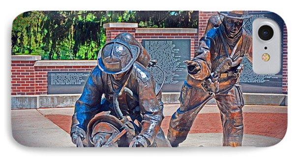 IPhone Case featuring the photograph Wisconsin State Firefighters Memorial Park 2 by Susan  McMenamin