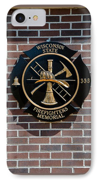 IPhone Case featuring the photograph Wisconsin State Firefighters Memorial Park 5 by Susan  McMenamin