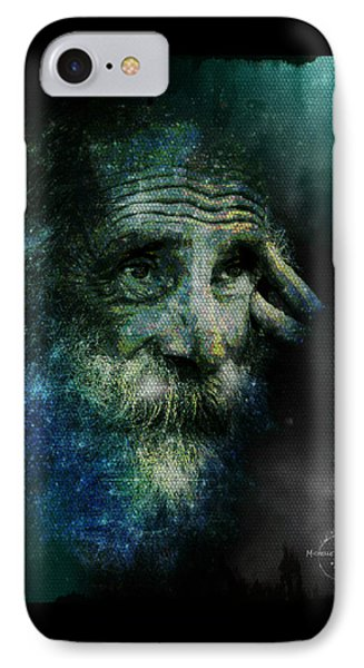 Wisdom Of The Stars IPhone Case by Absinthe Art By Michelle LeAnn Scott