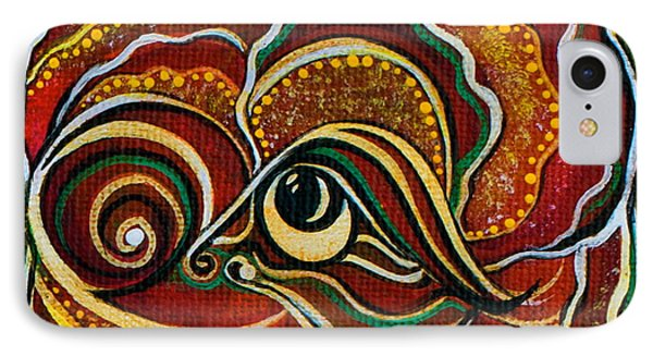 IPhone Case featuring the painting Wisdom Spirit Eye by Deborha Kerr
