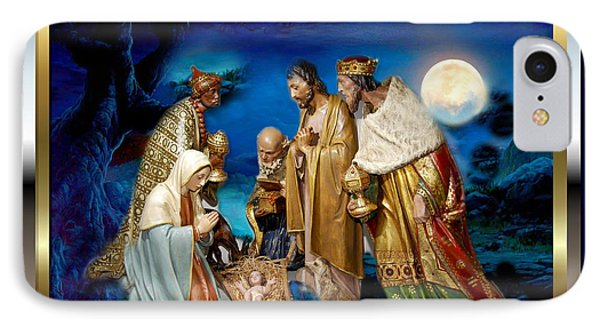 IPhone Case featuring the painting Wise Men Still Seek Him 3 by Karen Showell
