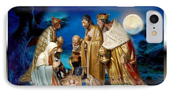 IPhone Case featuring the painting Wise Men Still Seek Him by Karen Showell