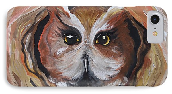 Wise Ole Owl IPhone Case by Leslie Manley