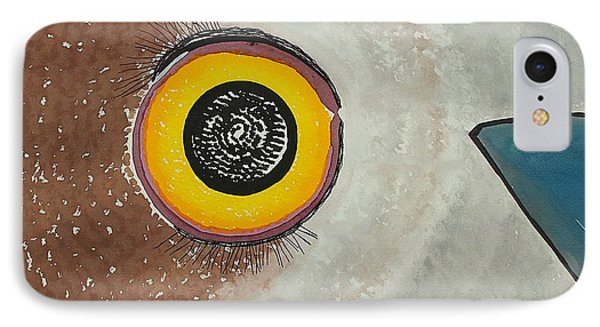 Wise Owl Original Painting IPhone Case by Sol Luckman