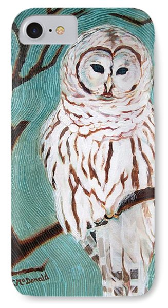 IPhone Case featuring the painting Wise She Is by Janet McDonald