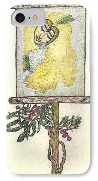 IPhone Case featuring the drawing Wish And Tell by Kim Pate
