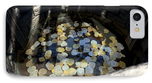 Wishing Well With Coins Perspective Phone Case by Allan Swart