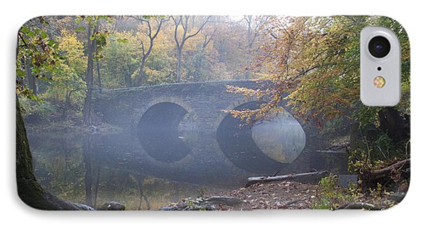 Wissahickon Creek And Bells Mill Road Bridge Phone Case by Bill Cannon
