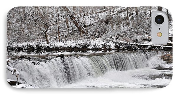 Wissahickon Waterfall In Winter Phone Case by Bill Cannon