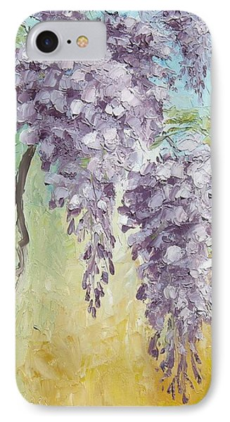Wisteria And Gold Phone Case by Mary Rogers