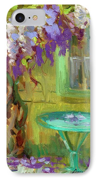 Wisteria At Hotel Baudy IPhone Case by Diane McClary