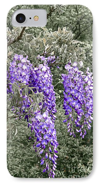 Wisteria Blossom Clusters Abstract Phone Case by Byron Varvarigos