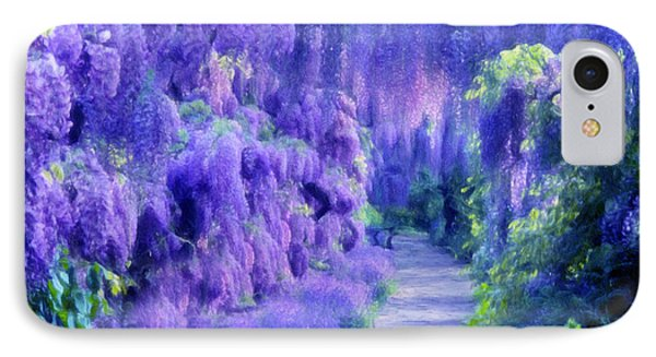 Wisteria Dreams Impressionism IPhone Case by Georgiana Romanovna