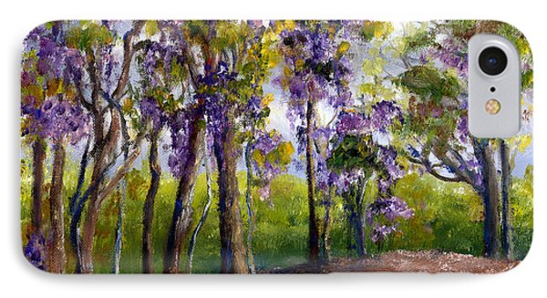Wisteria In Louisiana Trees Phone Case by Lenora  De Lude