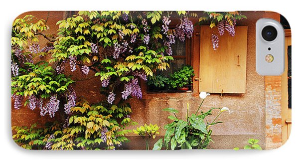 Wisteria On Home In Zellenberg France Phone Case by Greg Matchick