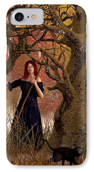 Witch Of The Autumn Forest  Phone Case by Daniel Eskridge