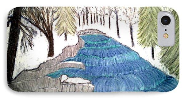 Witchata Falls Winter Phone Case by Neil Stuart Coffey
