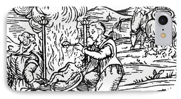 Witches Roasting And Boiling Infants IPhone Case by Italian School