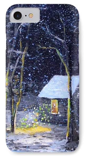 Wintery  Night At Thoreau's Cove IPhone Case
