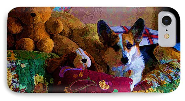 With His Friends On The Bed IPhone Case by Mick Anderson