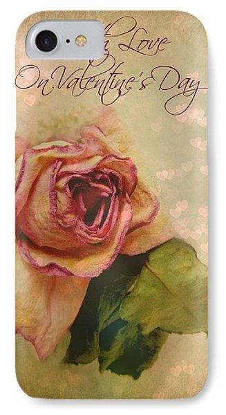 With Love On Valentine's Day Phone Case by Shirley Sirois