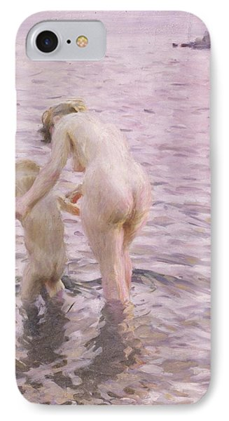 With Mother IPhone Case by Anders Leonard Zorn