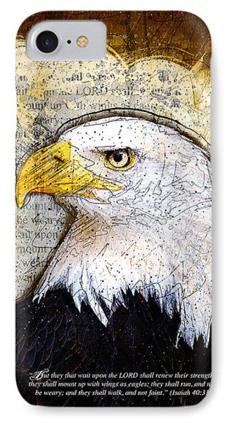 With Wings As Eagles IPhone Case by Gary Bodnar