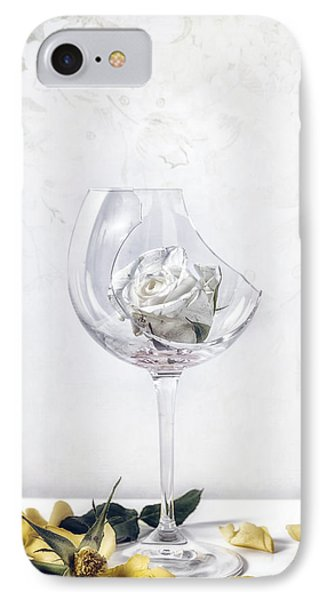 Withered White Rose IPhone Case by Joana Kruse