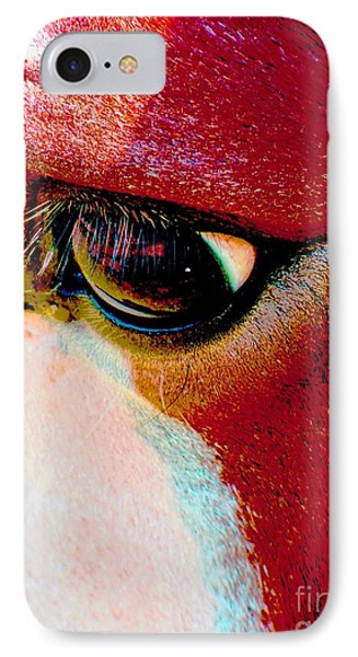 Within The Horse's Eyes IPhone Case by Annie Zeno