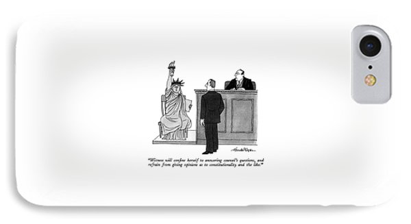 Witness Will Confine Herself To Answering IPhone Case by J.B. Handelsman