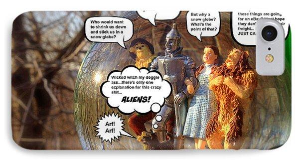 Wizard Of Oz Humor IIi IPhone Case by Aurelio Zucco
