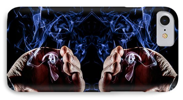 Wizard's Hands IPhone Case by Marc Garrido