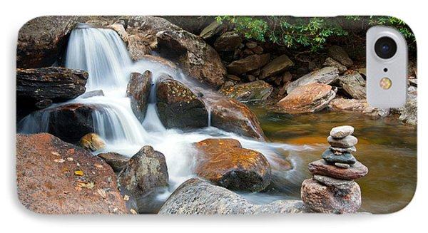 Wnc Flowing Zen Waterfalls Landscape - Harmony Waterfall IPhone Case