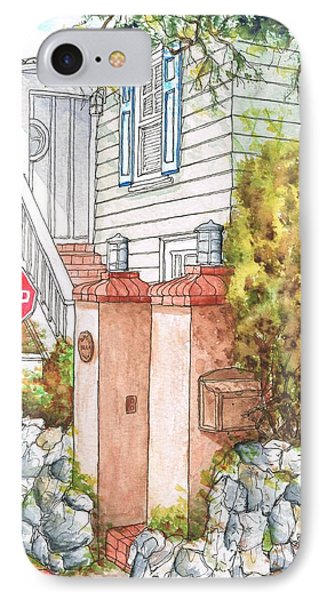 Two Pillars And A Mail Box In Mt. Olympus - Hollywood Hills - California IPhone Case