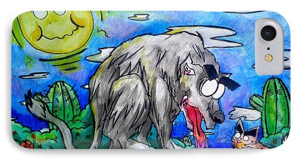 Wolf And Friend IPhone Case by Adrian  Casanova