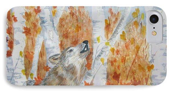 Wolf Call Phone Case by Ellen Levinson