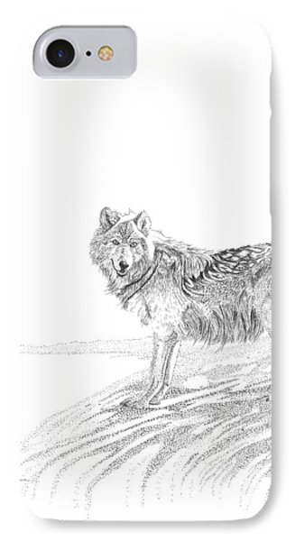 Wolf IPhone Case by Carl Genovese