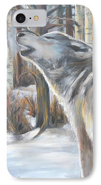Wolf Phone Case by Cher Devereaux