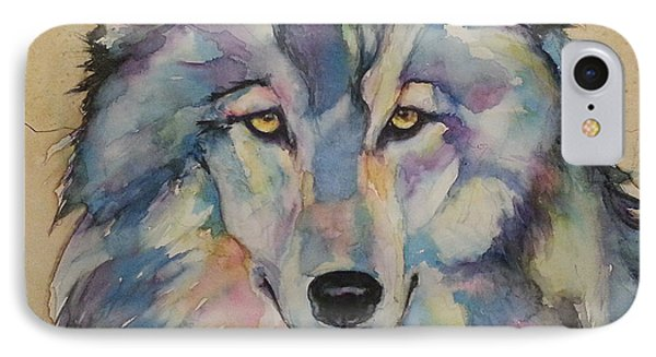 IPhone Case featuring the painting Wolf by Christy  Freeman