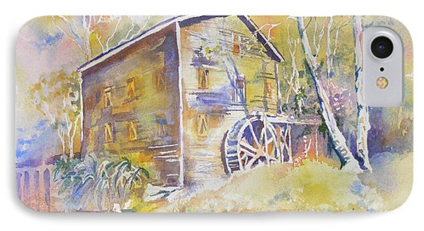 IPhone Case featuring the painting Wolf Creek Grist Mill by Mary Haley-Rocks
