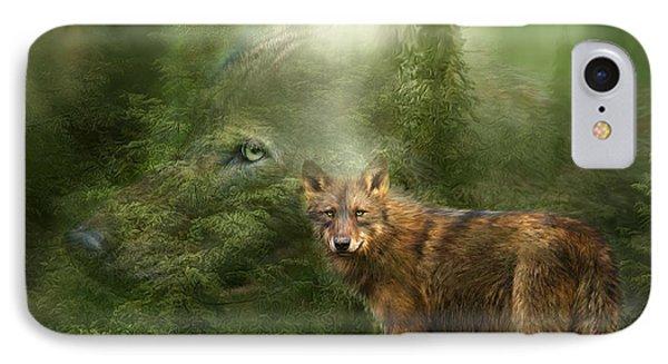 Wolf - Forest Spirit IPhone Case