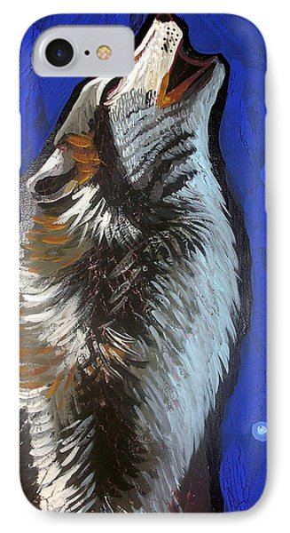 Wolf Howl Phone Case by Genevieve Esson